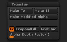 Alpha Transfer sub-palette