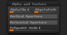 Brush Alpha and Texture sub-palette
