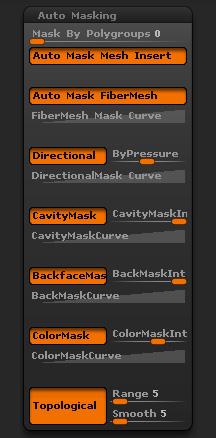 Brush Auto Masking sub-palette