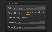 Brush Curve sub-palette