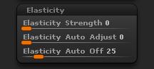 Elasticity sub-palette