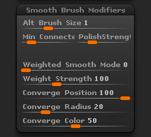 Brush>Smooth Brush Modifiers sub-palette