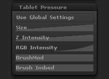 Brush Tablet Pressure sub-palette