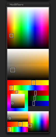 Color>Modifiers sub-palette