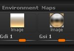 Light > Environment Maps sub-palette