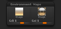 Light > Environment Maps sub-palette