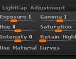 Light > LightCap Adjustment sub-palette