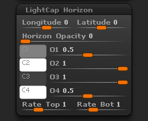 Light > LightCap Horizon sub-palette