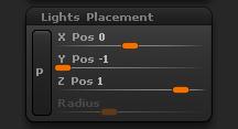 Light > Lights Placement sub-palette