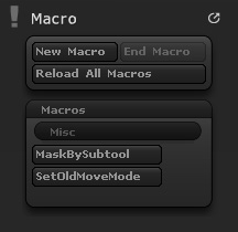 Macro palette