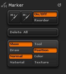 Marker palette