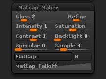 Material > MatCap Maker sub-palette