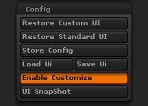 Preferences > Config sub-palette