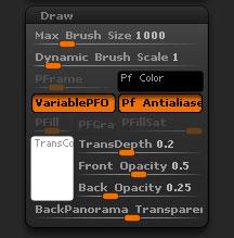 Preferences > Draw sub-palette