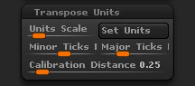 Preferences > Transpose Units sub-palette