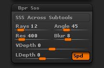 Render > BPR Sss sub-palette