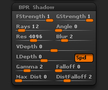 Render > BPR Shadow sub-palette