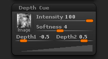 Render > Depth Cue sub-palette