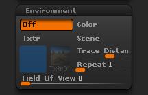 Render > Environment sub-palette