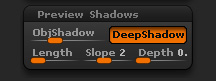 Render > Preview Shadows sub-palette