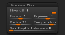 Render > Preview Wax sub-palette