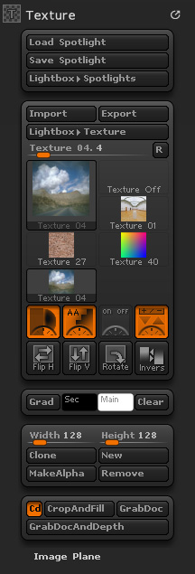 Texture palette