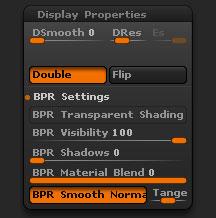 Tool > Display Properties sub-palette