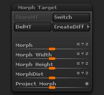 Tool > Morph Target sub-palette