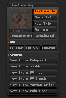 Tool > Texture Map sub-palette