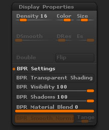 Tool > Display Properties sub-palette
