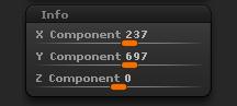 Transform > Info sub-palette