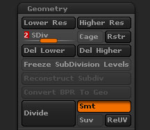 Tool>Geometry sub-palette default items