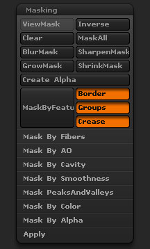 how to select delete masked zbrush
