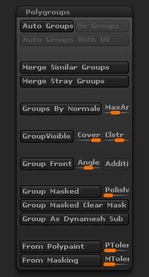 Tool > Polygroups sub-palette