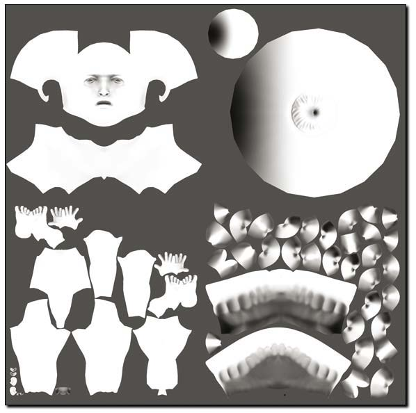 Ambient Occlusion map - courtesy of ZBrush Artist Marco Menco