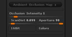 Ambient Occlusion Map options
