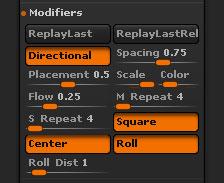Stroke>Modifiers sub-palette