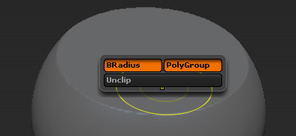 Clip Brush Modifiers pop-up menu