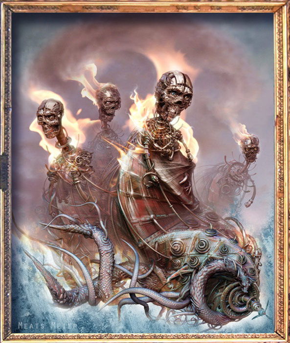 Four Horseman - ZBrush illustration by Meats Meier