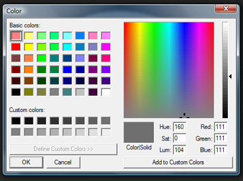 The Windows system Color picker