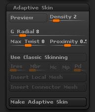Tool > Adaptive Skin sub-palette