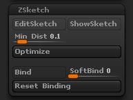 Tool > ZSketch sub-palette