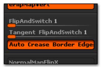 The Flip and Switch options, located in the Preferences >> Import-Export palette