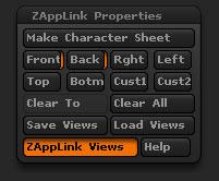 The ZApplink Properties sub-palette