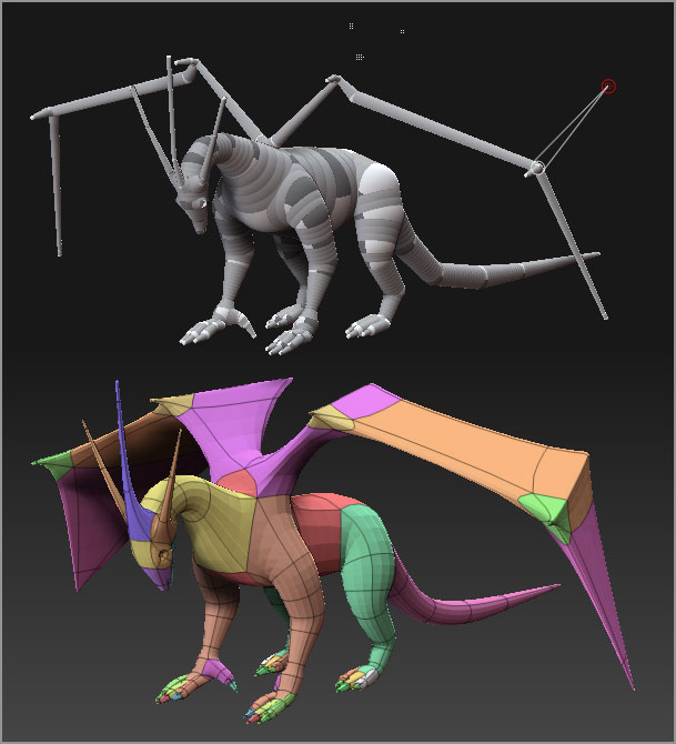 ZSphere model using Classic Skinning