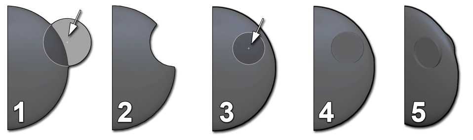 Clip center positions