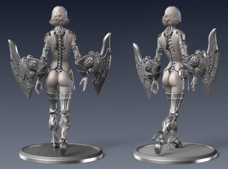 The same model as above, from a different point of view. Model by Marco Plouffe