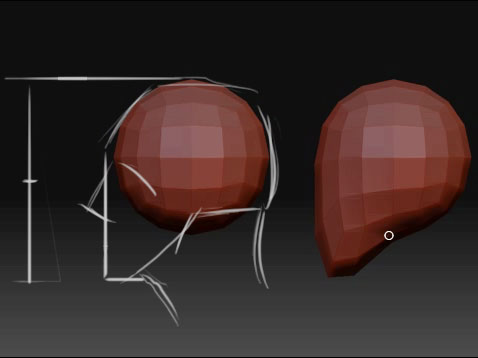 4 head sculpting with dynamesh in zbrush tutorial series for.
