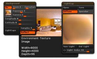 Background LightCap example