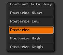 The five different posterization BPR Filters.